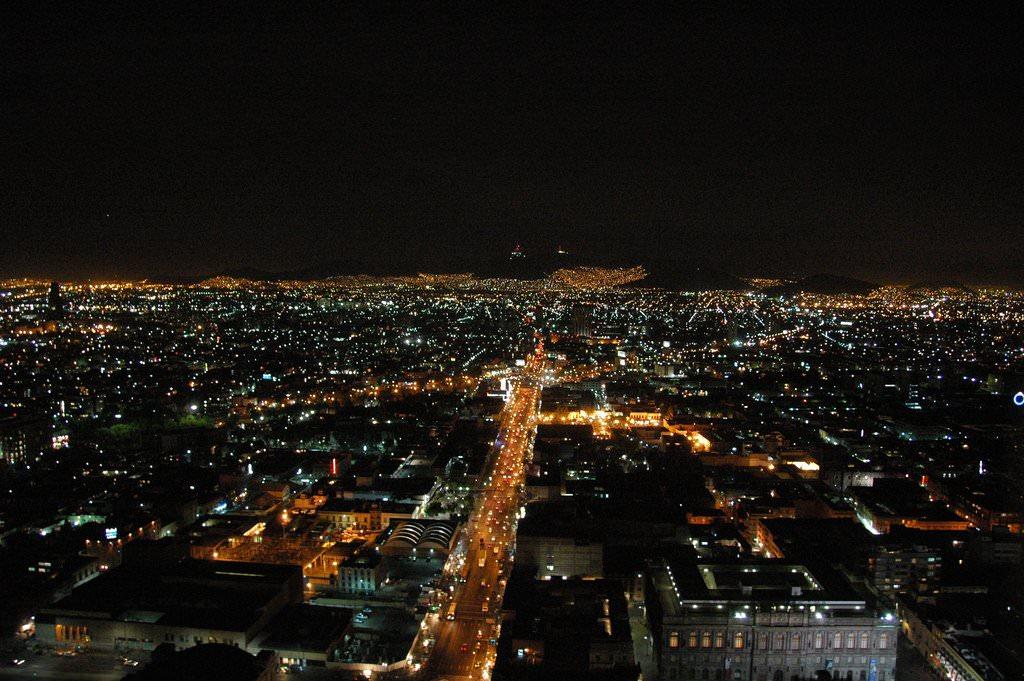 Nightlife Zocalo Mexico City