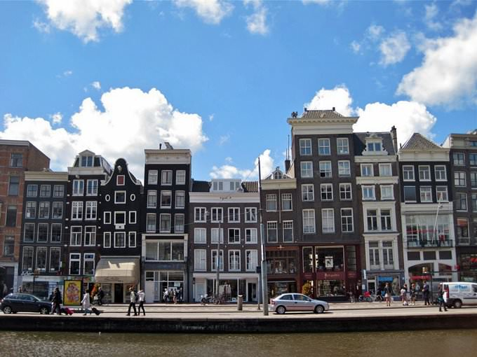 Amsterdam buildings and skyline