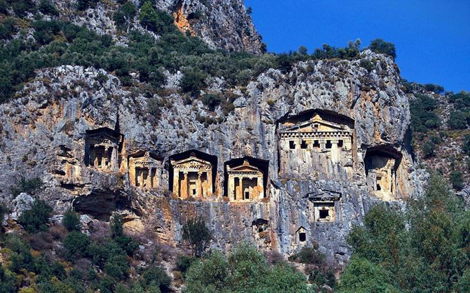 Ancient Lycian Rock Tombs, Antalya