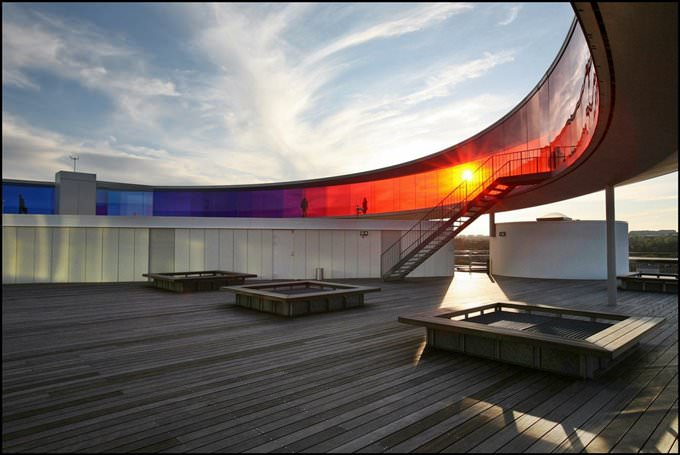 Denmark .The ARoS Aarhus Kunstmuseum. The name ARoS is the Old Danish name of the city Aarhus, while the capitalized letters of the name hint at the Latin word for art, namely ars. 2012 S 1083 Århus1_33
