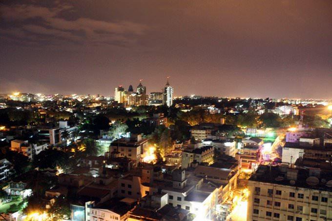 Night view of Bangalore