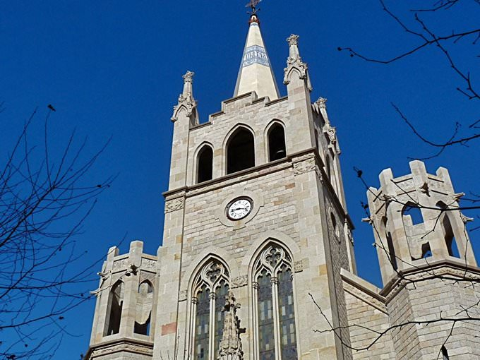 Mr Blue Sky 1. Curch Clock Barcelona Spain