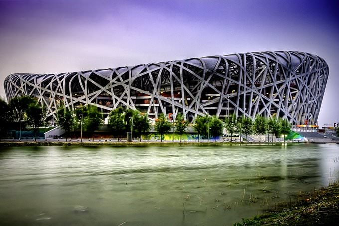 "Beijings National Stadium ""Birds Nest"""