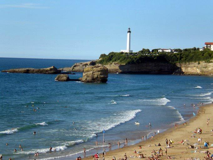 Biarritz, Pyrenees-Atlantiques, la plage