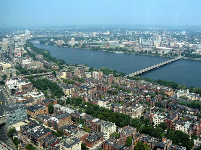 View from Prudential Tower, Boston