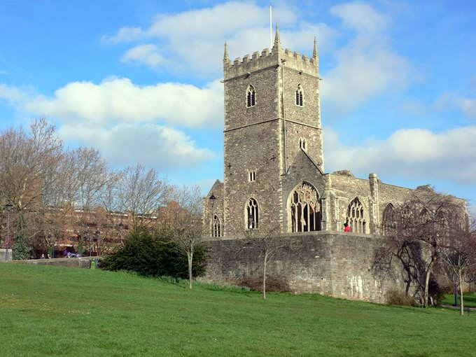 St Peters church in Castle Park