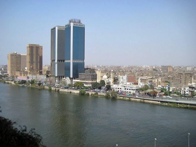 View of the Nile from Cairo Marriott Hotel - Zamalek