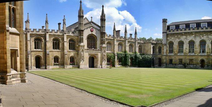 Panorama of Corpus Christi College, Cambridge
