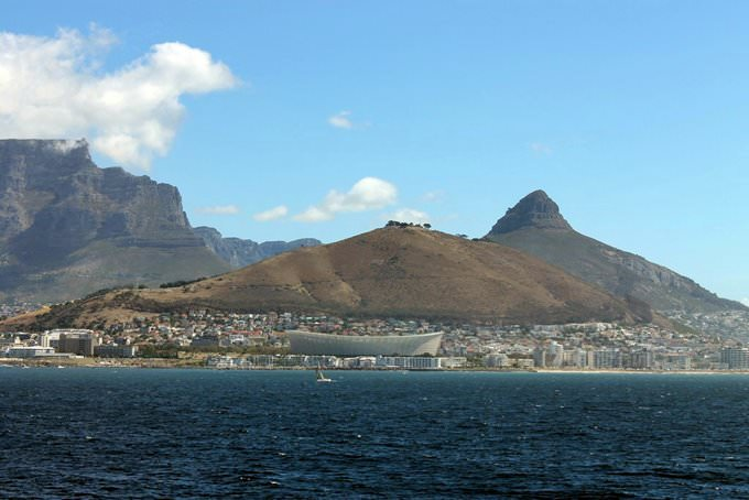 Cape Town Stadium from the harbour
