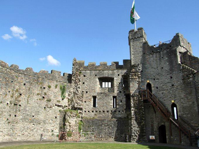 Inside Cardiff Castle keep