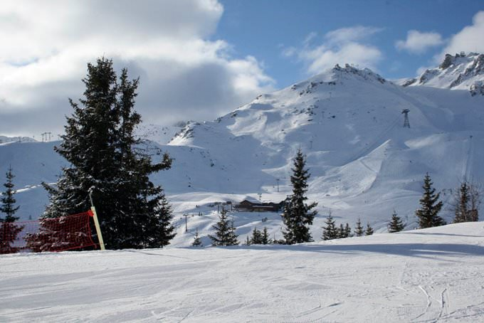 Looking towards the Saulire Cable car