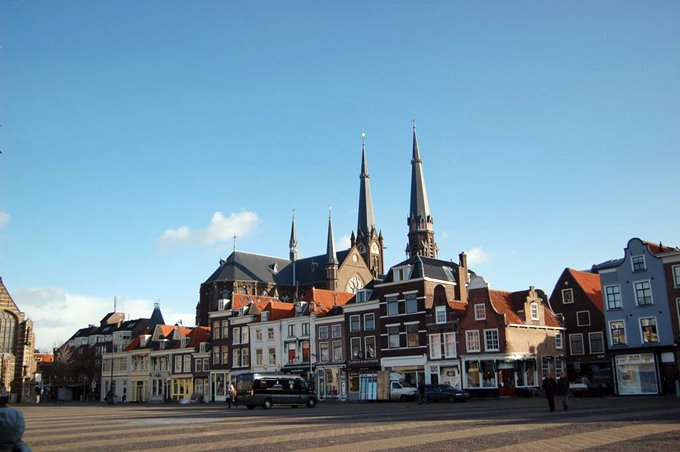 a large square in Delft
