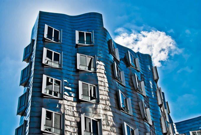 Gehry Bauten Dusseldorf Medienhafen