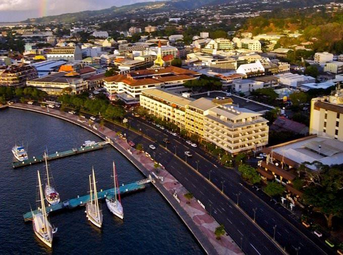 "\""Downtown Papeete\"", Tahiti"