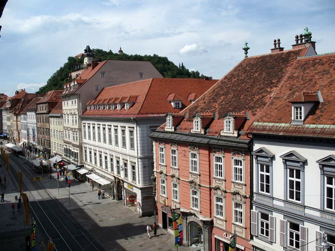 Graz - Herrengasse viewed from Landeszeughaus