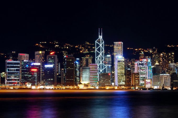 View of Hong Kong Island From the Avenue of the Stars