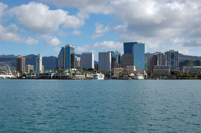 Honolulu from across the Bay