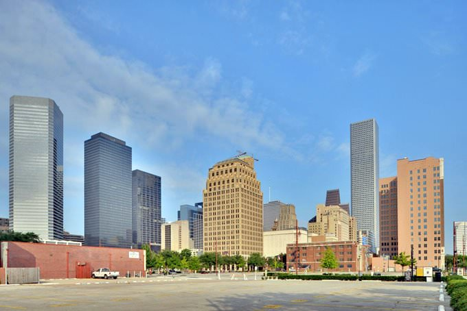 Houston Skyline, View West From Union Station