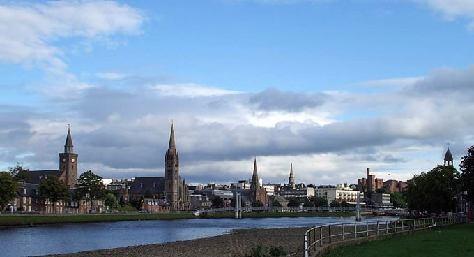 Inverness City Centre and River Ness