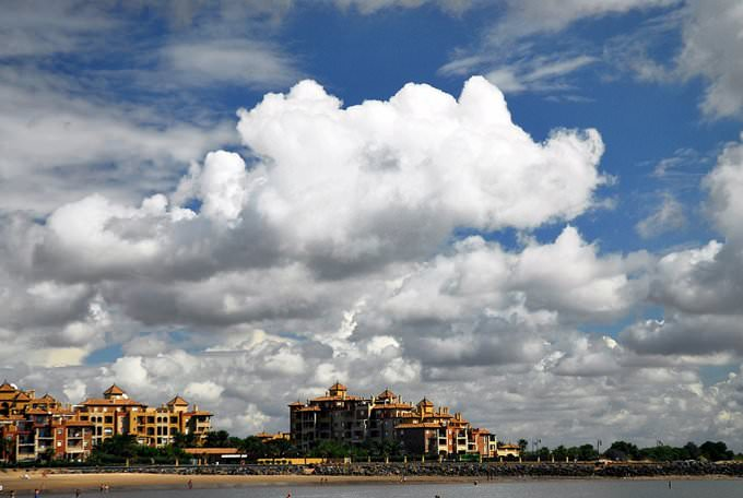 Cumulus over Isla Canela #1