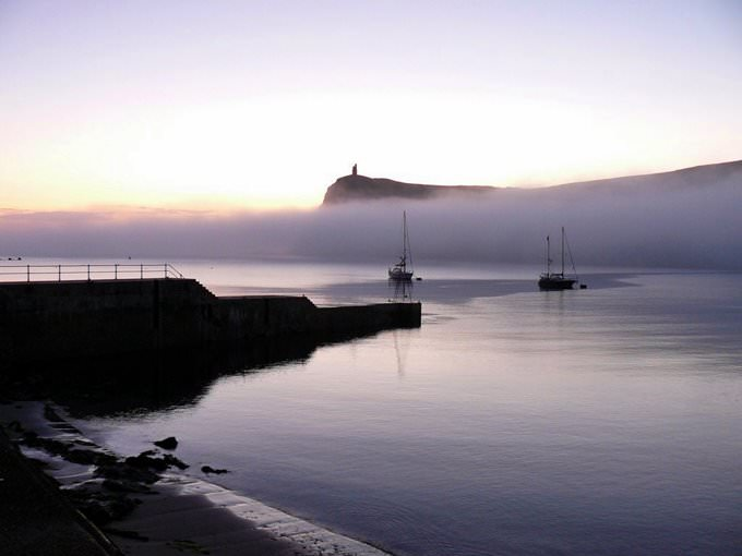 Foggy Port Erin Bay