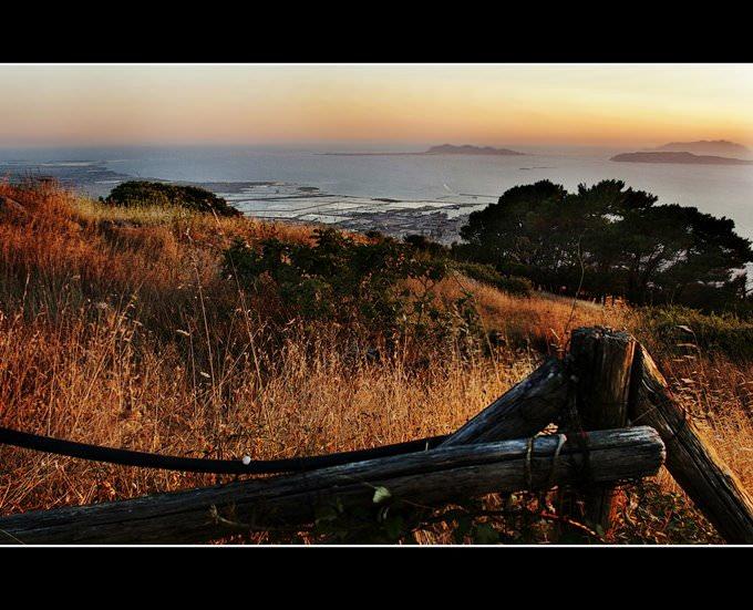 Sicilia - tramonto da Erice