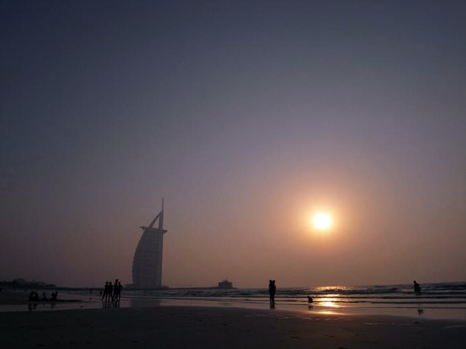 Sunset on Jumeirah Beach