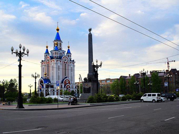 Хабаровск. Соборная площадь.