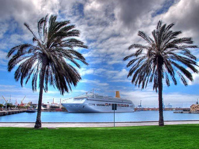 Fotos del crucero Oriana en el muelle de Santa Catalina de Las Palmas de Gran Canaria