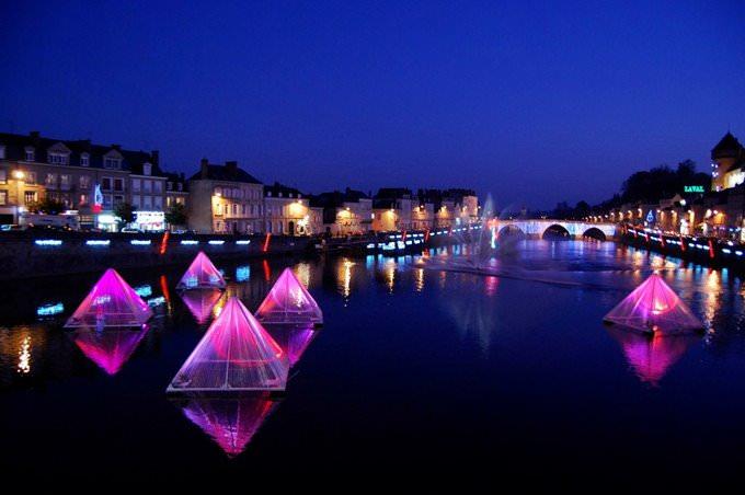 Strange Floating Pyramids