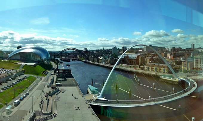 Panorama looking out over the Tyne