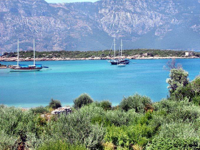 Kleopatra inseln in Marmaris/Turkei