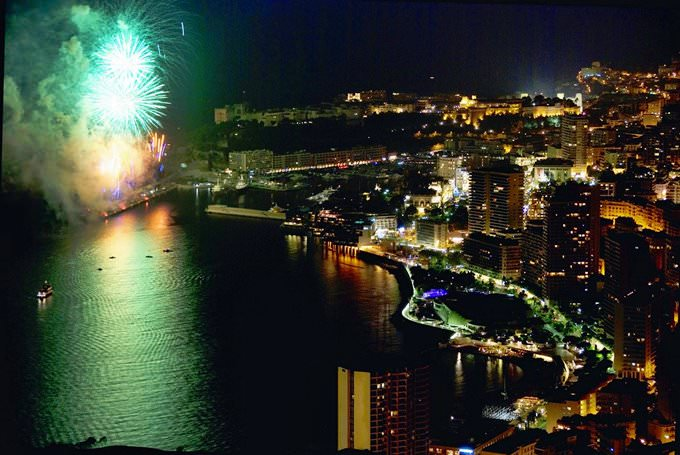 Fireworks in Monte-Carlo.