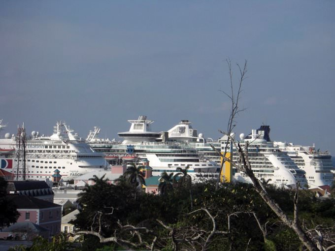 All the ships in port, Nassau, Bahamas