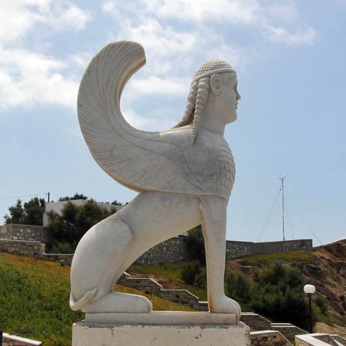 """Marble copy of the """"Sphinx of Naxos"""""""