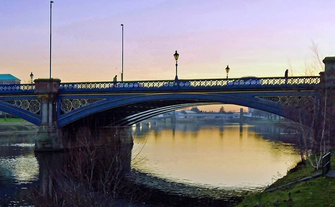 Trent Bridge sunset