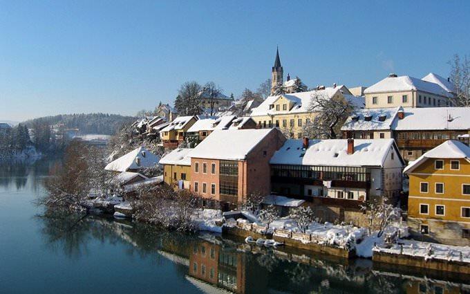 The Breg on the Krka River - Novo Mesto