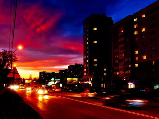 Sunset \/ Novosibirsk \/ Siberia \/ 13.10.2011