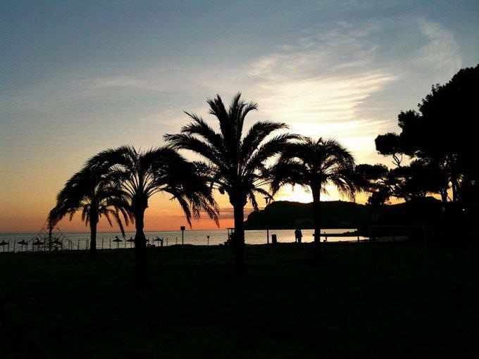 Sonnenuntergang in Peguera