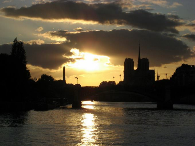 Sunset on Paris