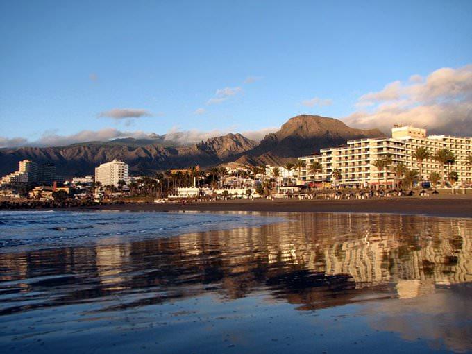 One of the beaches near Playa de Las Americas