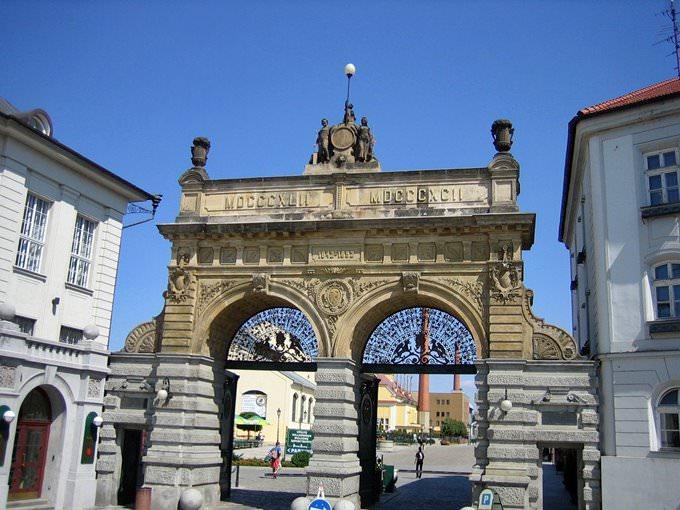 Plzen Brewery Gates