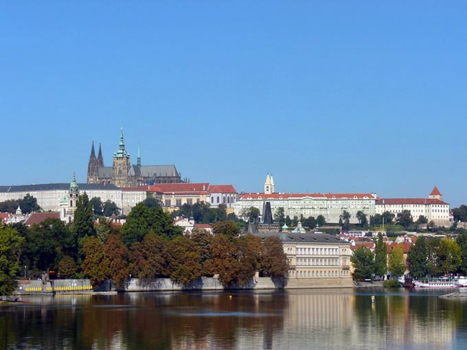 Prague, panorama du chateau