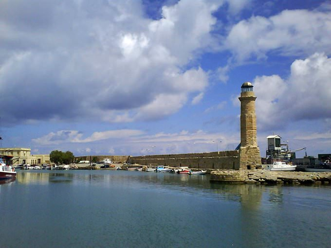 Venetian port of Rethymno