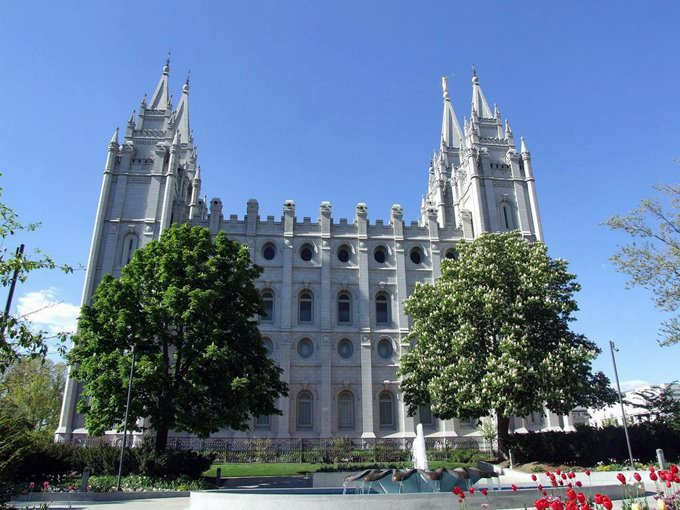 Temple Square, Salt Lake City: the Temple