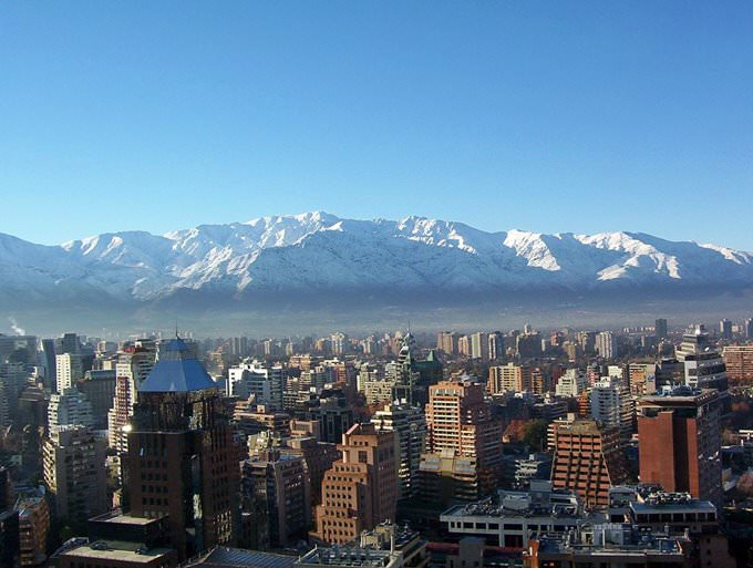Santiago en invierno (Winter in Santiago Chile)