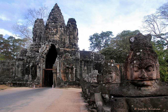 Angkor Thom South Gate Entrance, Siem Reap, Cambodia