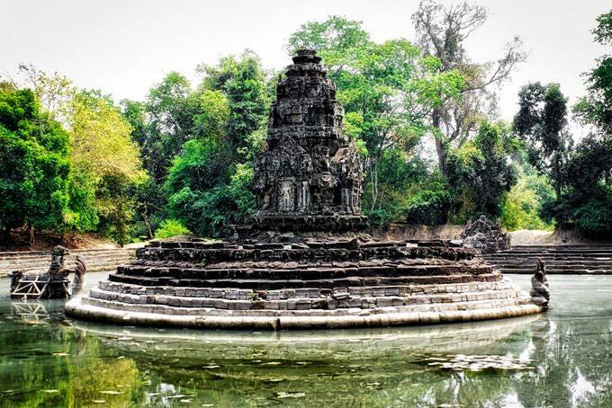 Neak Pean temple near Siem Reap in Cambodia