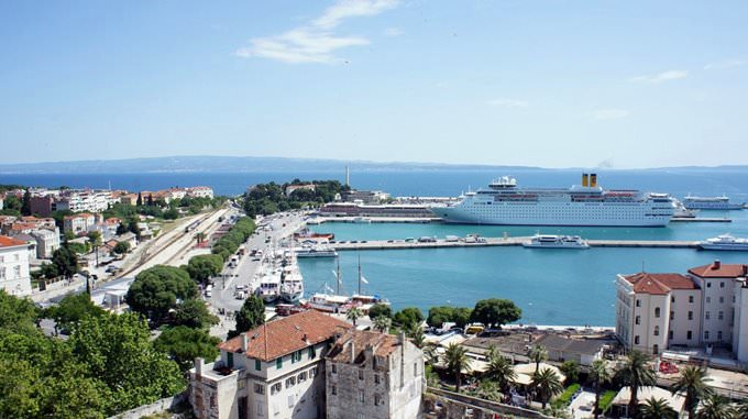 View from Bell Tower, Diocletians Palace, Split
