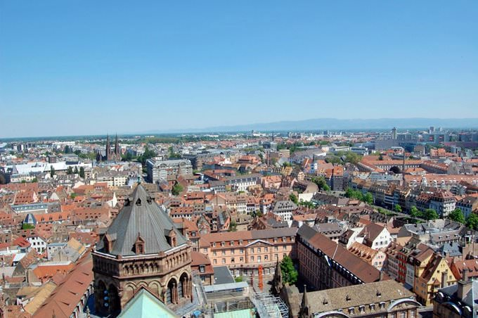 View From Cathedrale Notre Dame in Strasbourg